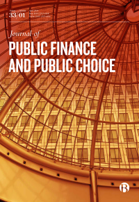 Journal of Public Finance and Public Choice logo