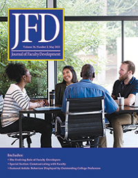 The Journal of Faculty Development logo