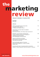 The Marketing Review logo