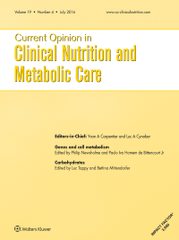 Current Opinion in Clinical Nutrition and Metabolic Care logo