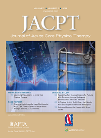Journal of Acute Care Physical Therapy logo