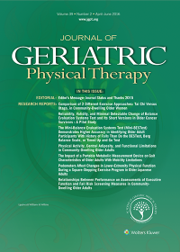 Journal of Geriatric Physical Therapy logo
