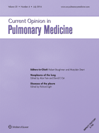 Current Opinion in Pulmonary Medicine logo