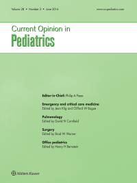 Current Opinion in Pediatrics logo