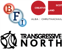 British Film Institute, Creative Scotland, Centre for the Moving Image and Transgressive North logo