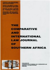 Comparative and International Law Journal of Southern Africa logo