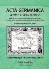 Acta Germanica : German Studies in Africa logo